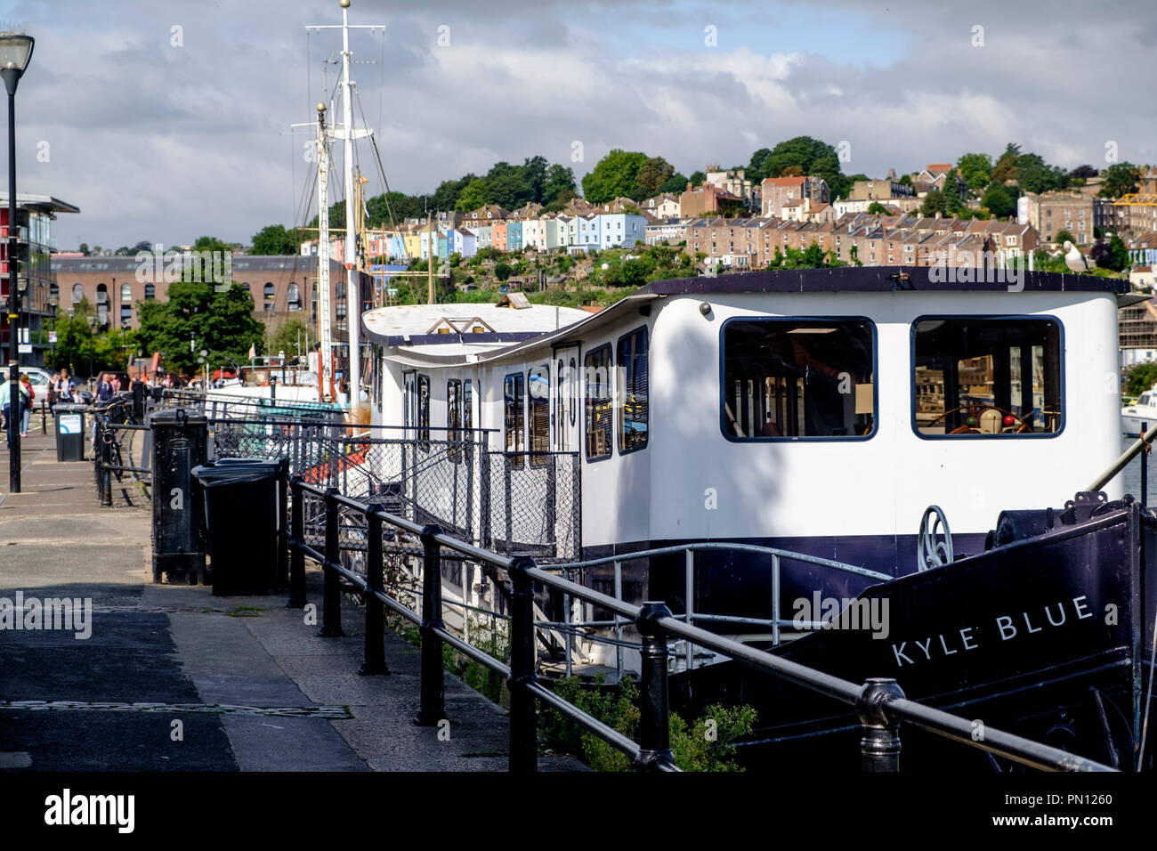 Kyle Blue is a waterborne Hostel in Bristol Harbour, Bristol england UK - Stock Image