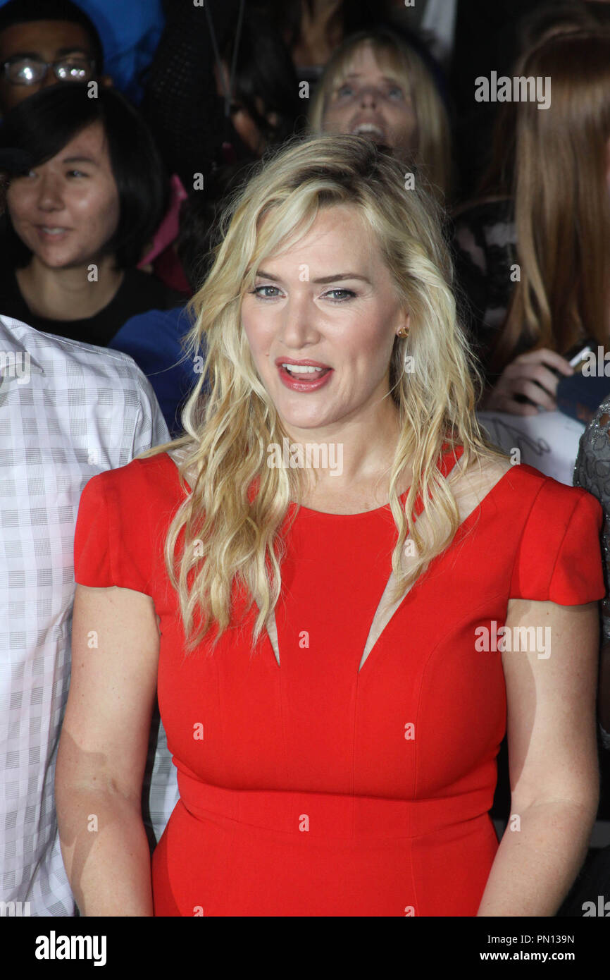 Kate Winslet at the world premiere of Summit Entertainment's 'Divergent'. Arrivals held at the Regency Bruin Theatre in Westwood, CA, March 18, 2014. Photo by: Richard Chavez / PictureLux - Stock Image