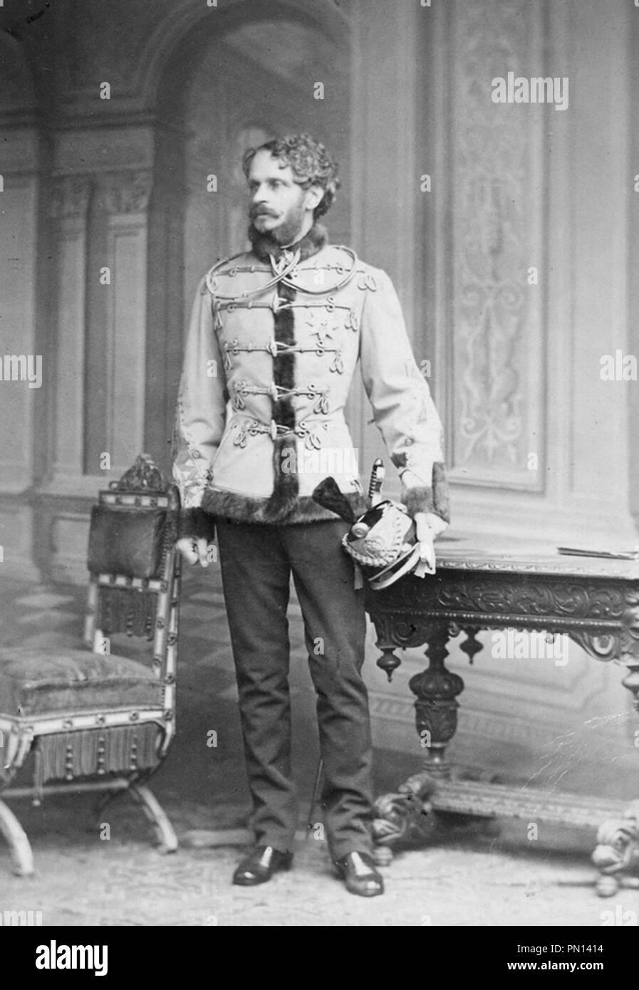 Gyula Andrássy, Count Gyula Andrássy de Csíkszentkirály et Krasznahorka (1823 – 1890) Hungarian statesman and Prime Minister of Hungary (1867–1871) - Stock Image