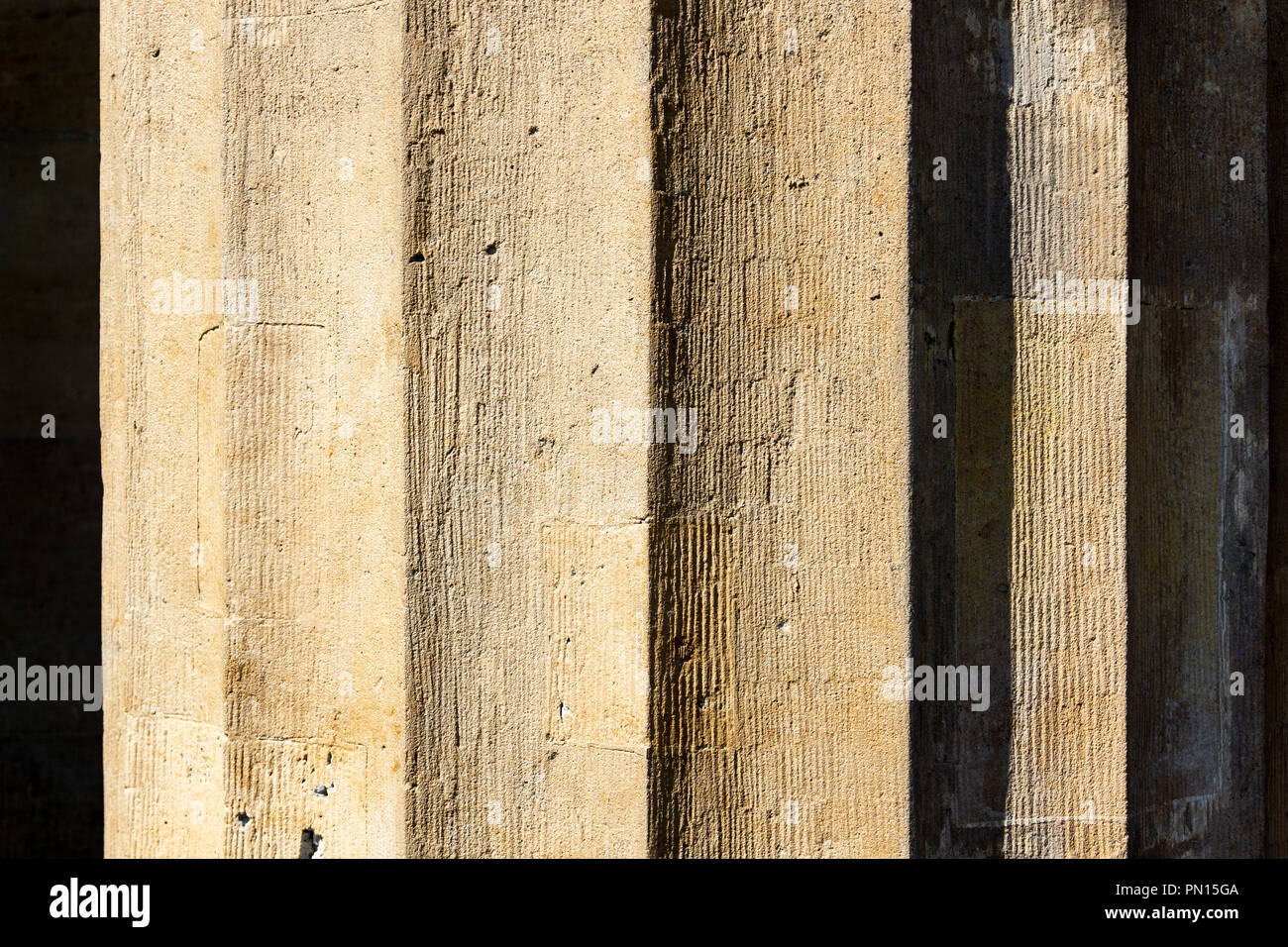 Berlin, Germany, July 28, 2018: Close-Up of Grooves of Architectural Column - Stock Image