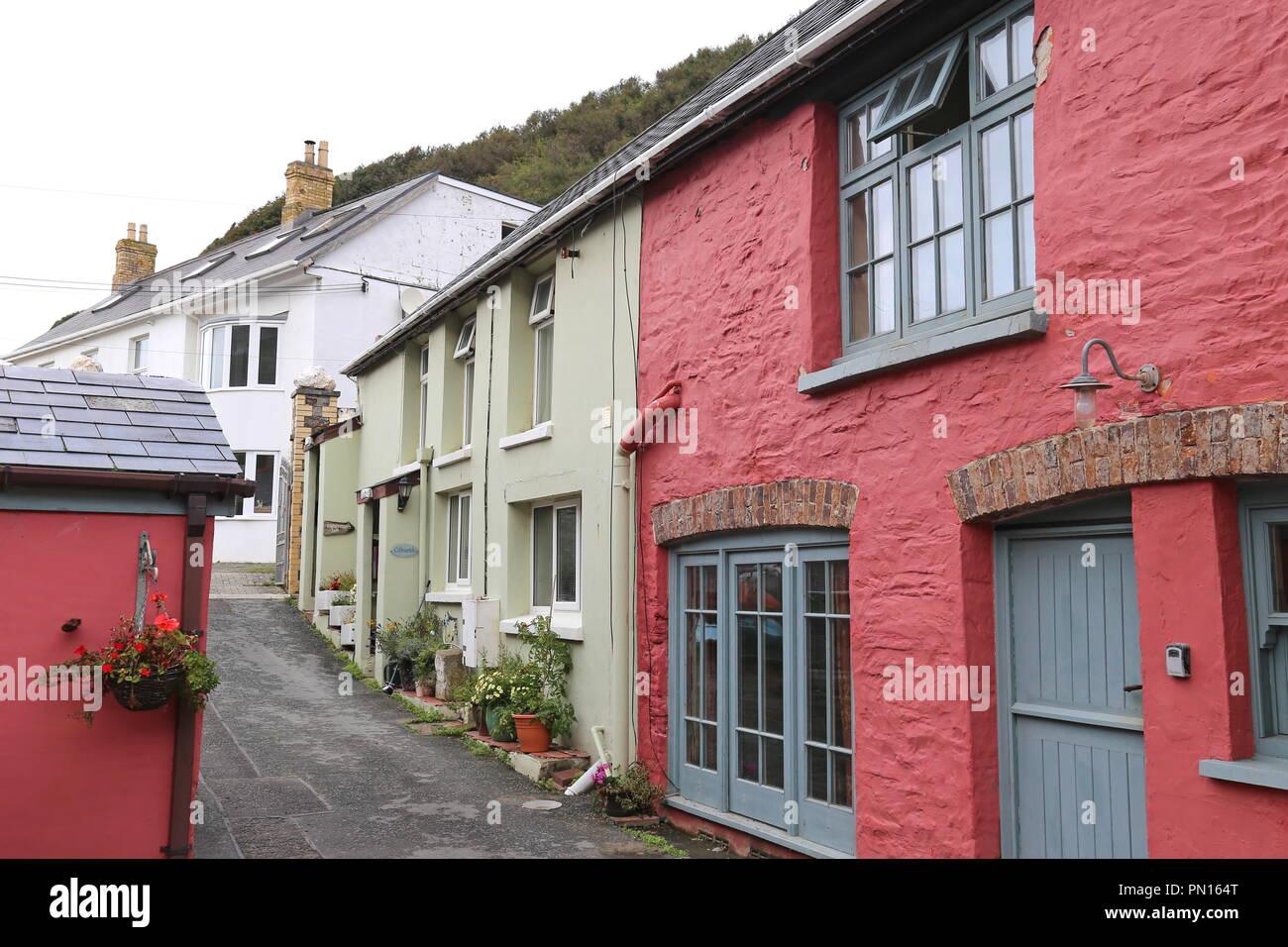 Llangrannog, Cardigan Bay, Ceredigion, Wales, Great Britain, United Kingdom, UK, Europe - Stock Image