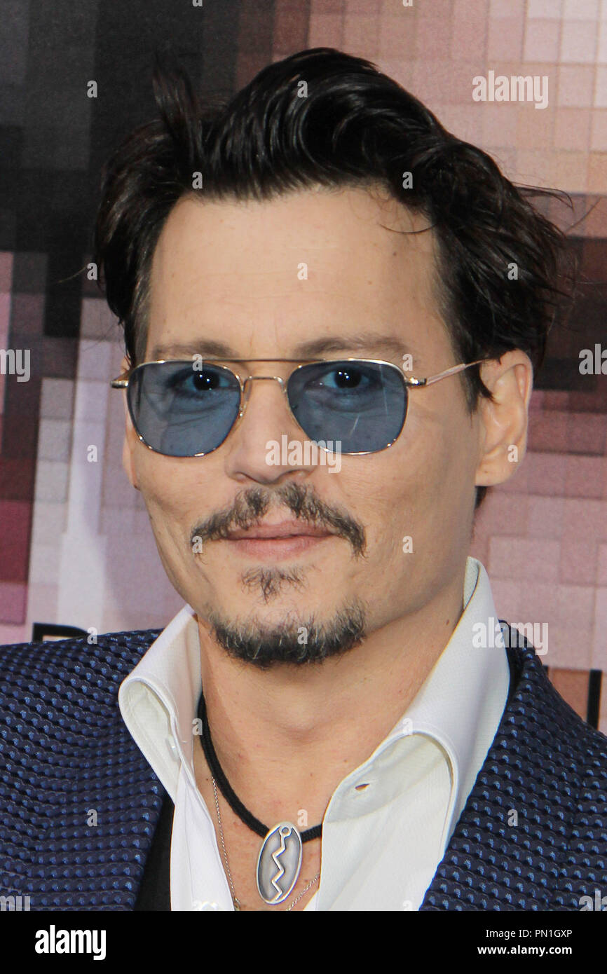 Johnny Depp  04/10/2014 'Transcendence' Premiere held at the Regency Village Theatre in Westwood, CA Photo by Mayuka Ishikawa / HNW / PictureLux - Stock Image