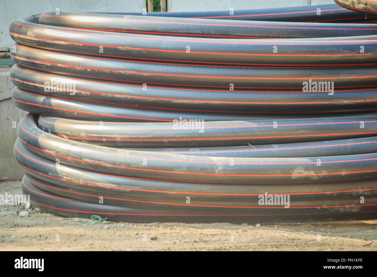 Hdpe Pipes For Water Supply And Electrical Conduit At Construction Electricwireconduitjpg Site
