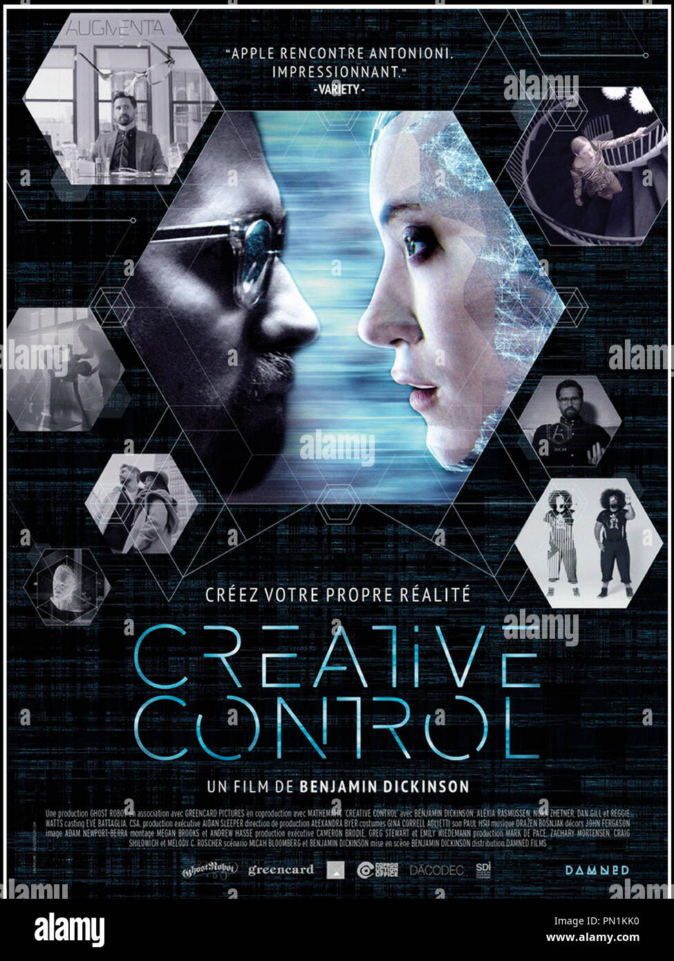 Prod DB © Ghost Robot - Greencard Pictures - Mathematic / DR CREATIVE CONTROL de Benjamin Dickinson 2015 USA affiche française science fiction - Stock Image