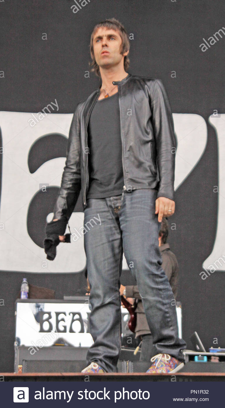 Beady Eye (Liam Gallagher) support The Stone Roses at Heaton Park, Manchester on Saturday 30 June 2012 - Stock Image