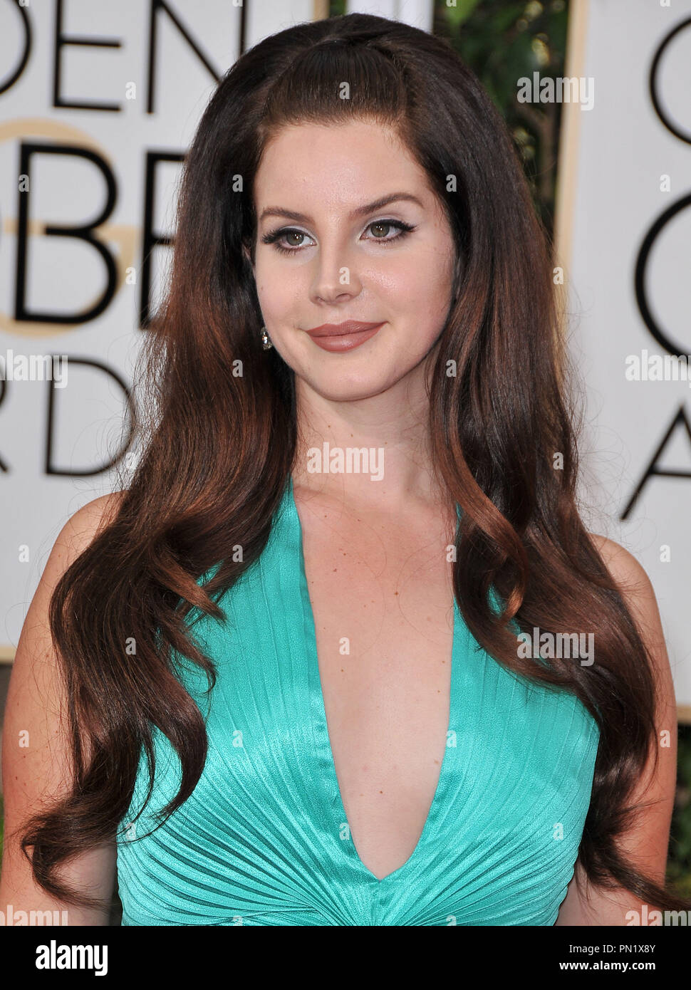 Lana Del Rey At The 72nd Annual Golden Globe Awards Held At The Beverly Hilton In