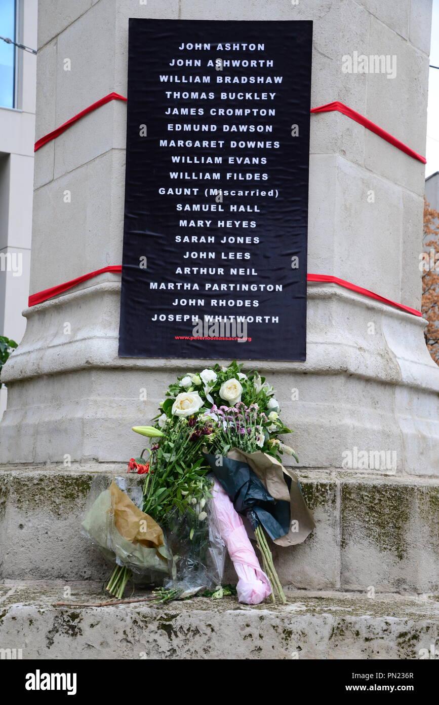 Peterloo memorial Stock Photo