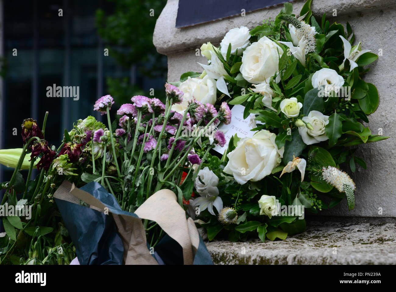 Peterloo memorial Stock Photo