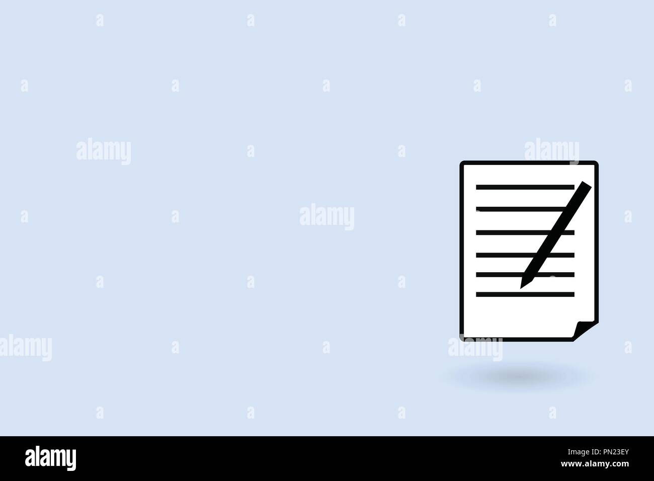 Flat design business Vector Illustration concept Empty copy space modern abstract background Geometric element. Sheet of Pad Paper with Lines and Marg - Stock Vector