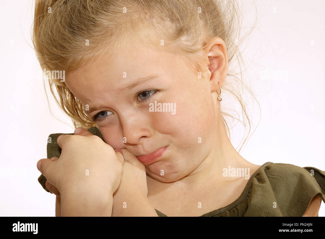 Six year old girl,crying - Stock Image