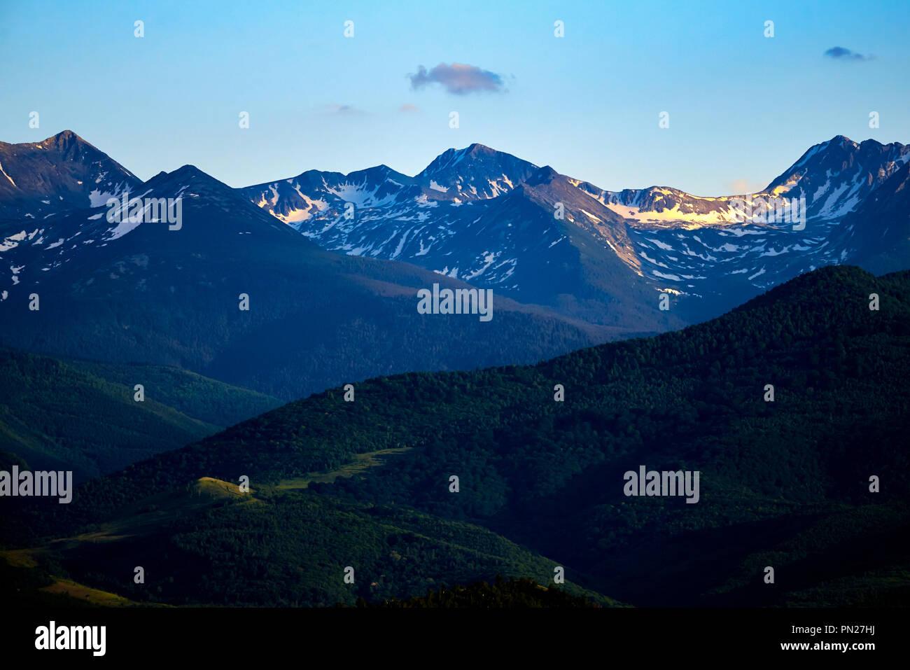 Beautiful mountains landscape - Stock Image