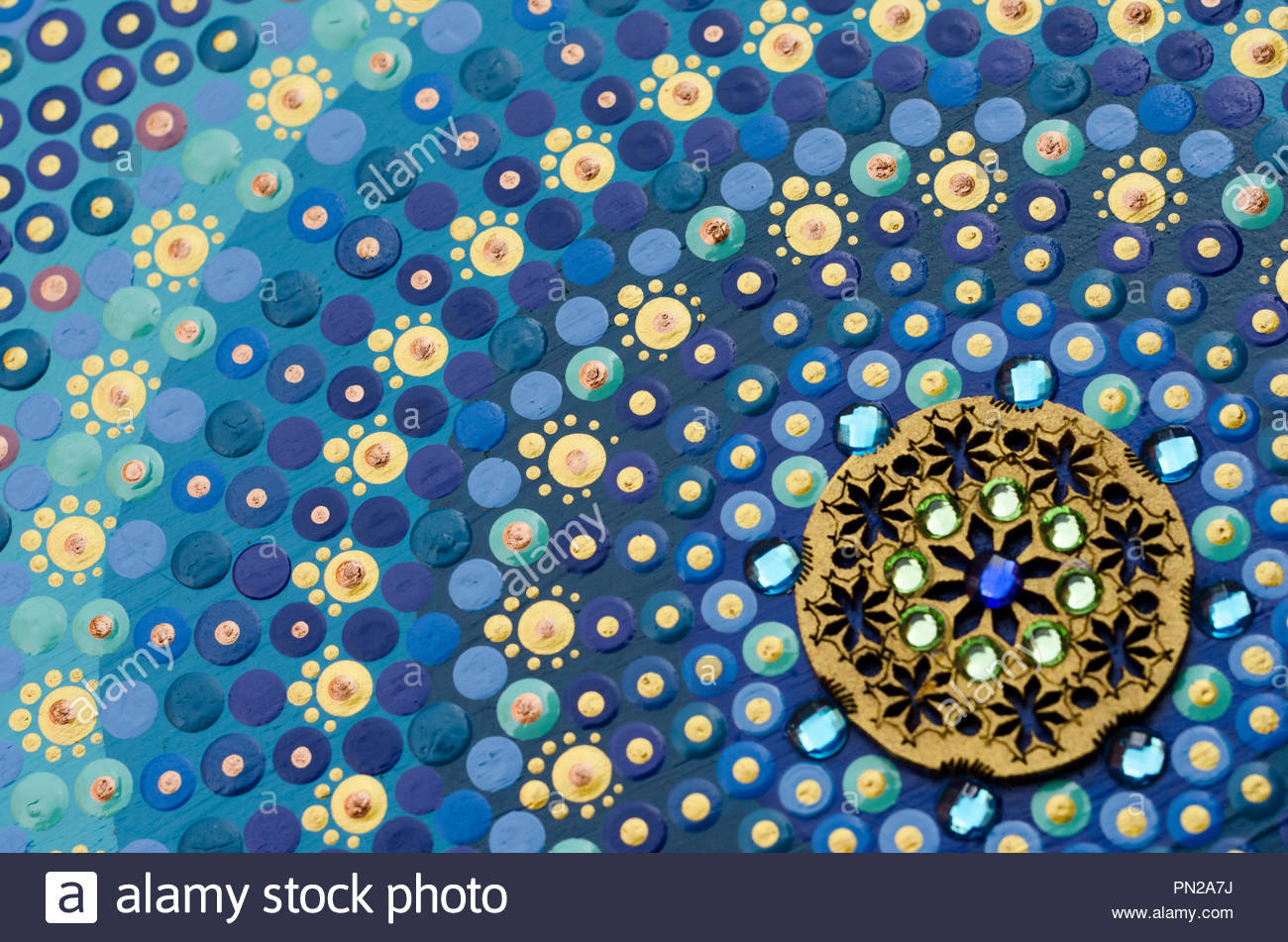 Tibetan mandala, extreme close-up - Stock Image