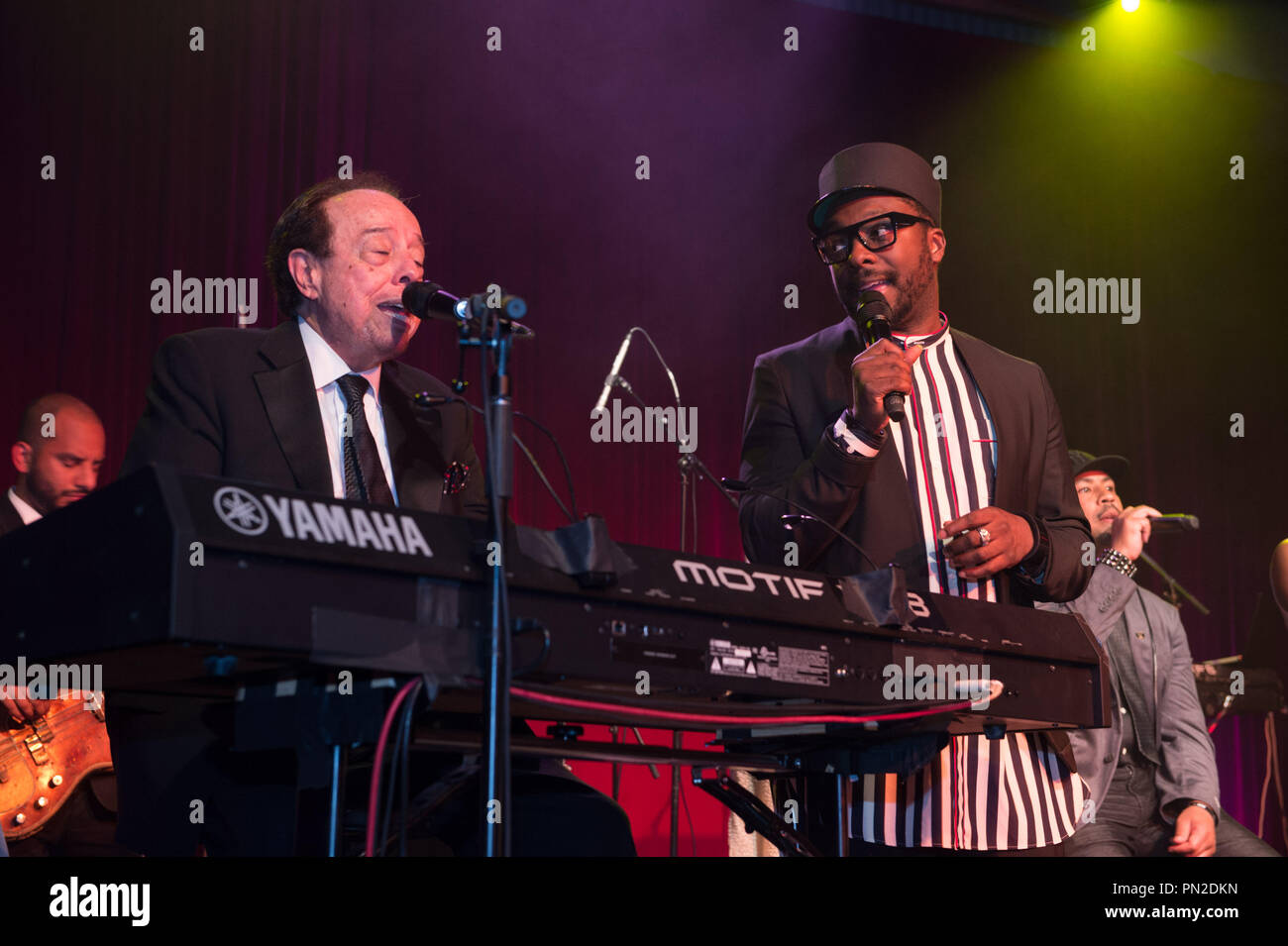 Sergio Mendes and will.i.am perform at the Governor's Ball after the live ABC Telecast of The 87th Oscars® at the Dolby® Theatre in Hollywood, CA on Sunday, February 22, 2015.  File Reference # 32571_024THA  For Editorial Use Only -  All Rights Reserved - Stock Image