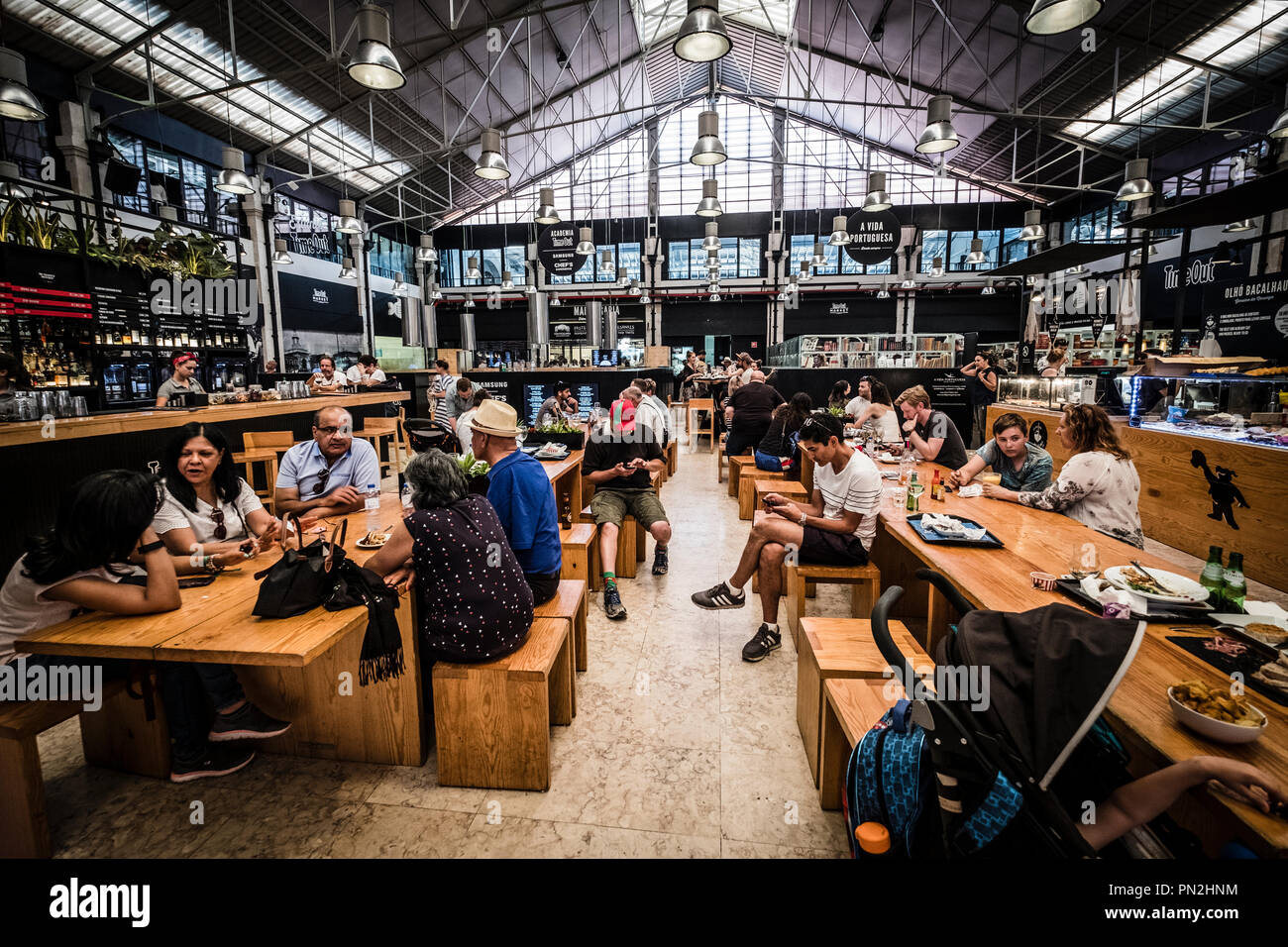 Time Out Market is a food hall located in Mercado da Ribeira at Cais do  Sodre in Lisbon 218430da27805