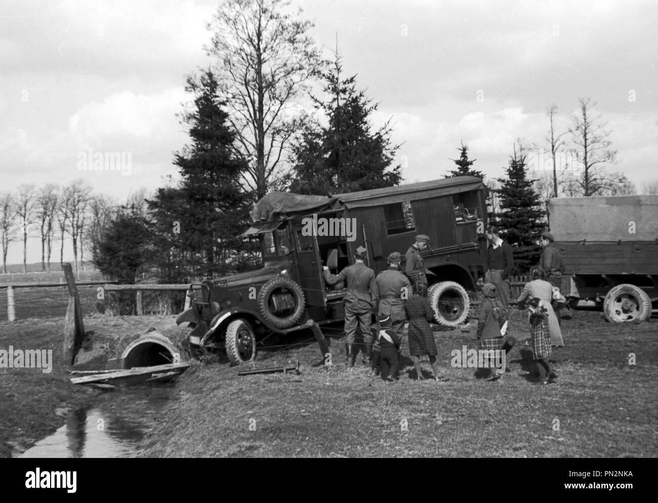 Beutefahrzeug des Heeres der Wehrmacht Unic P 107 - Loot vehicle of the German Army Unic P107 Stock Photo
