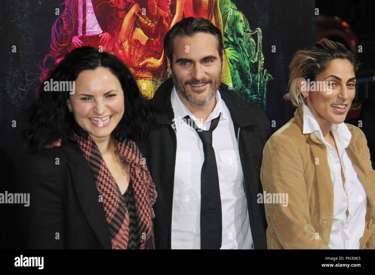 Rain Phoenix, Joaquin Phoenix, Summer Phoenix  12/10/2014 'Inherent Vice' Premiere held at TCL Chinese Theater in Hollywood, CA Photo by Izumi Hasegawa / HNW / PictureLux - Stock Image