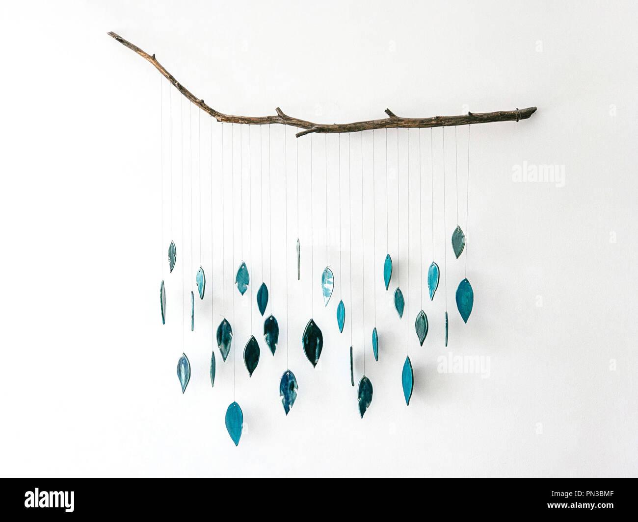 The handmade decoration with dreamcatcher for interior - Stock Image