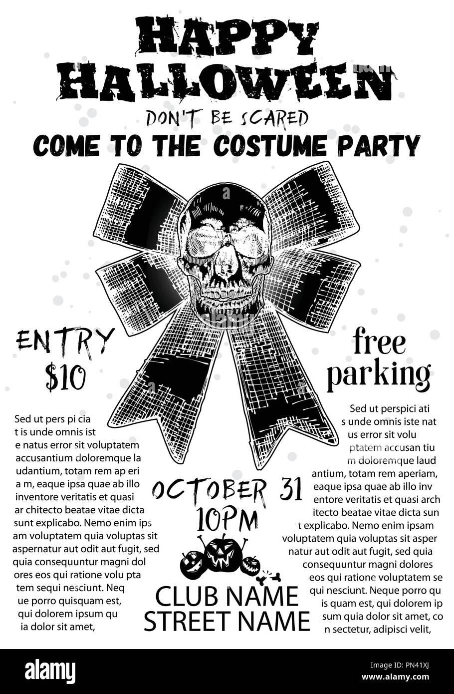 Halloween Party Ticket Invitation Stock Photos & Halloween Party ...