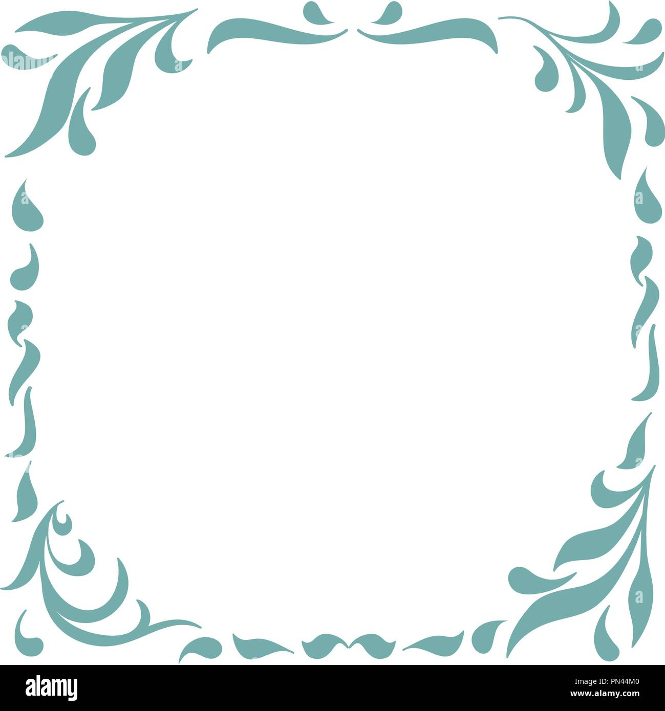 Floral Frame for design of monograms, invitations, frames, menus ...