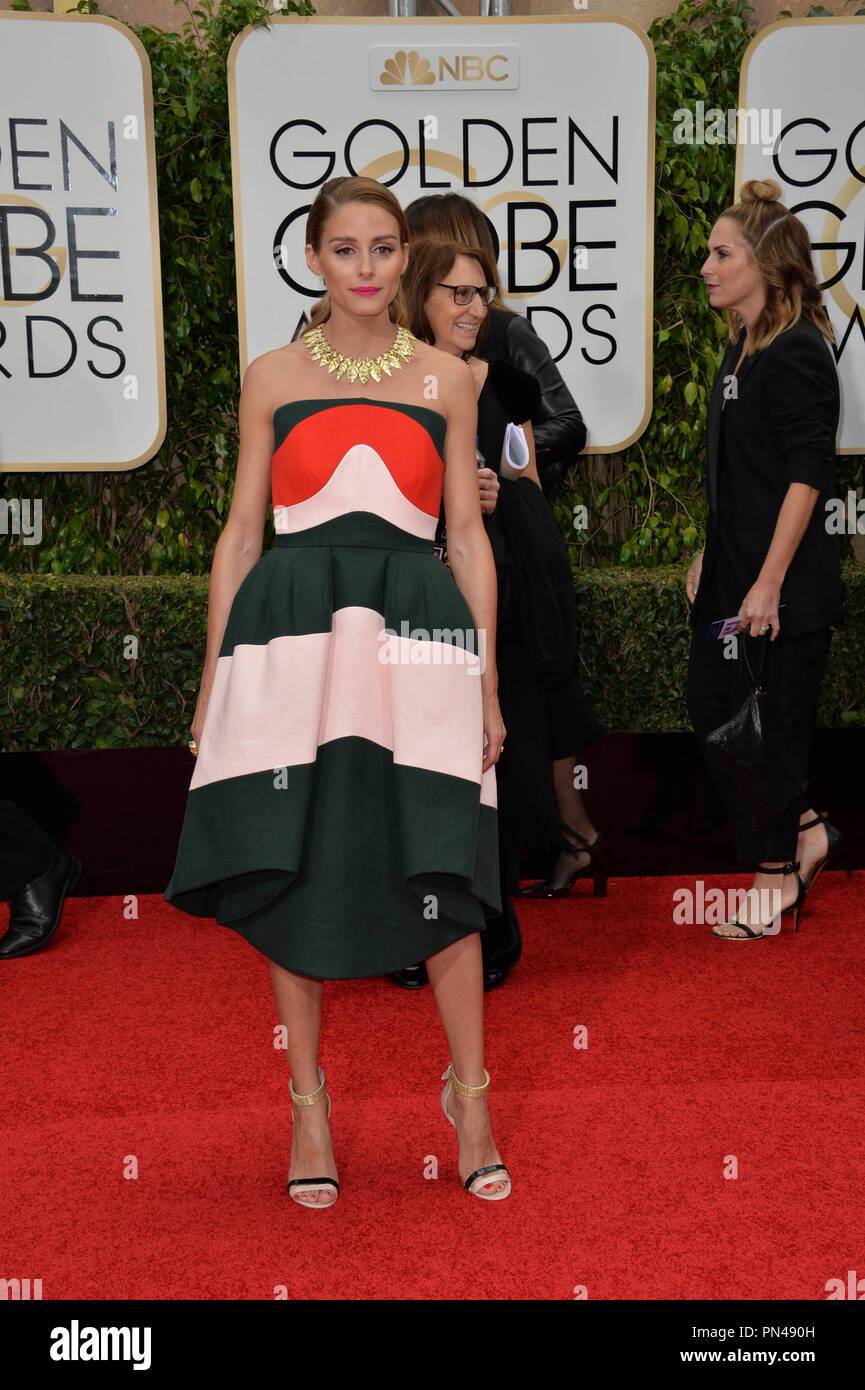 a9851943cc Olivia Palermo at the 73rd Annual Golden Globe Awards at the Beverly Hilton  Hotel. January