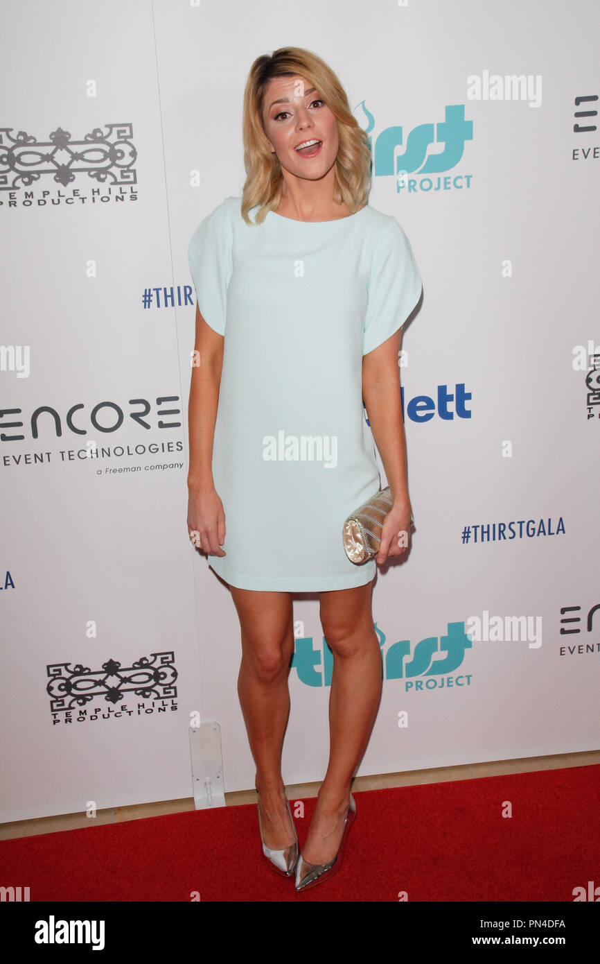 Grace Helbig at the 6th Annual Thirst Gala held at the Beverly Hilton Hotel in Beverly Hills, CA, June 30, 2015. Photo by Joe Martinez / PictureLux - Stock Image