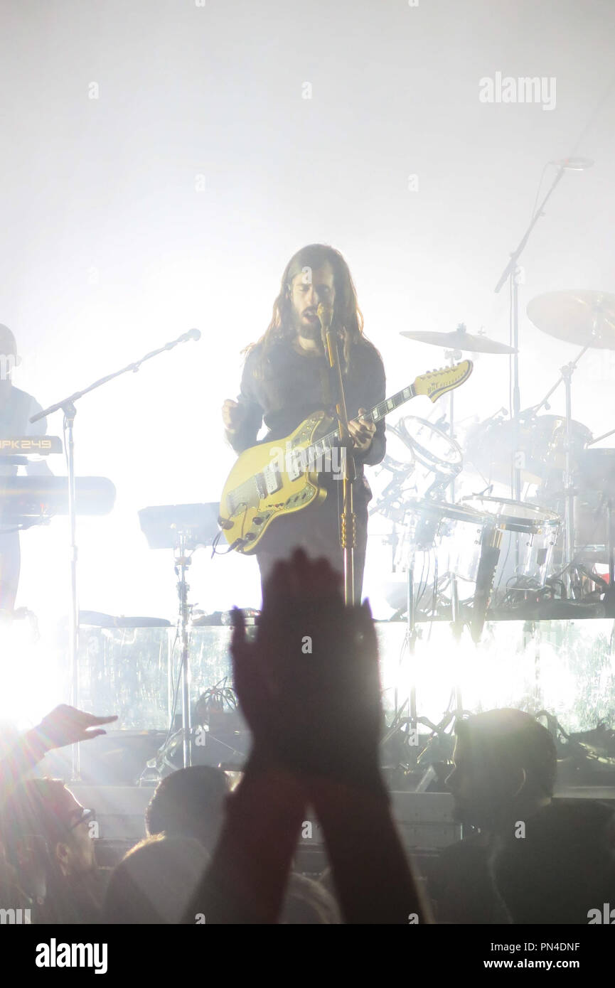 Imagine Dragons Live at the Honda Center in Anaheim, CA, July 20, 2015. Wayne Sermon. Photo by Richard Chavez / PictureLux - Stock Image