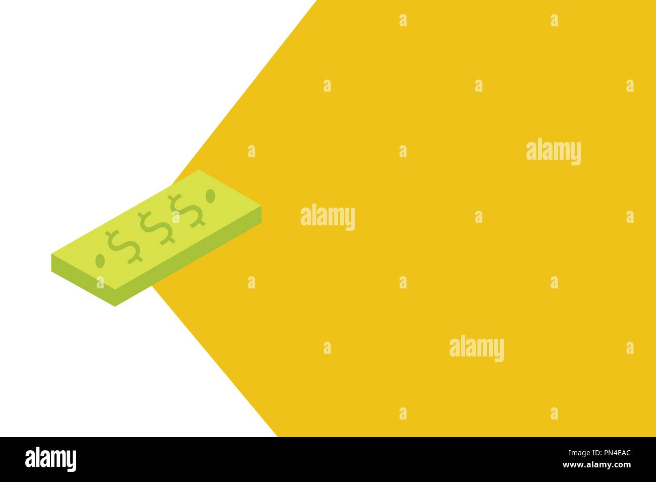 Flat design business Vector Illustration concept Empty template copy space Posters coupons promotional material. Unit of Currency Dollar Sign on Recta - Stock Vector