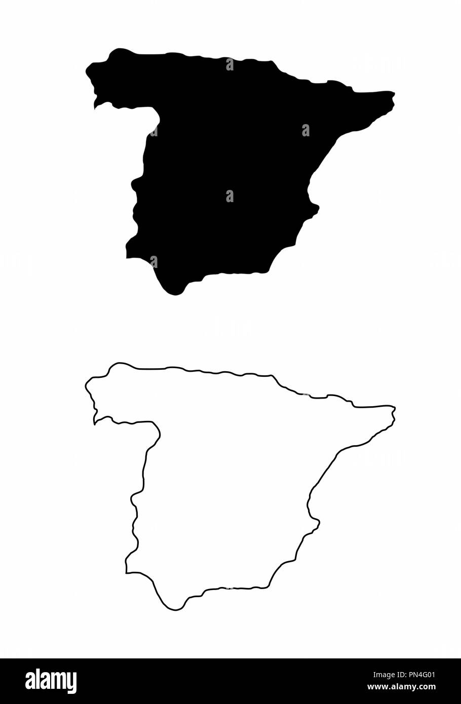Maps of Spain - Stock Vector