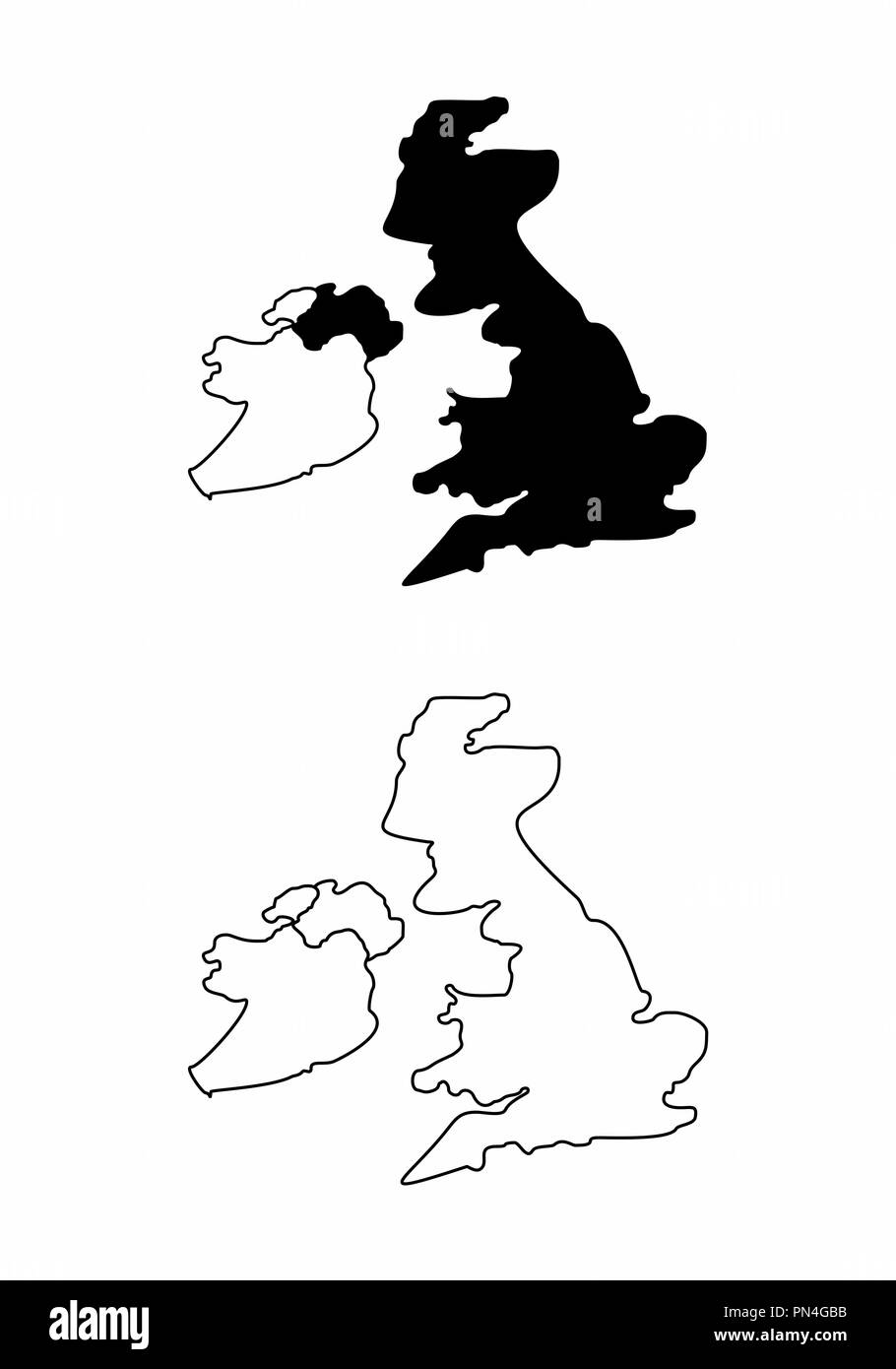 Maps of United Kingdom - Stock Vector