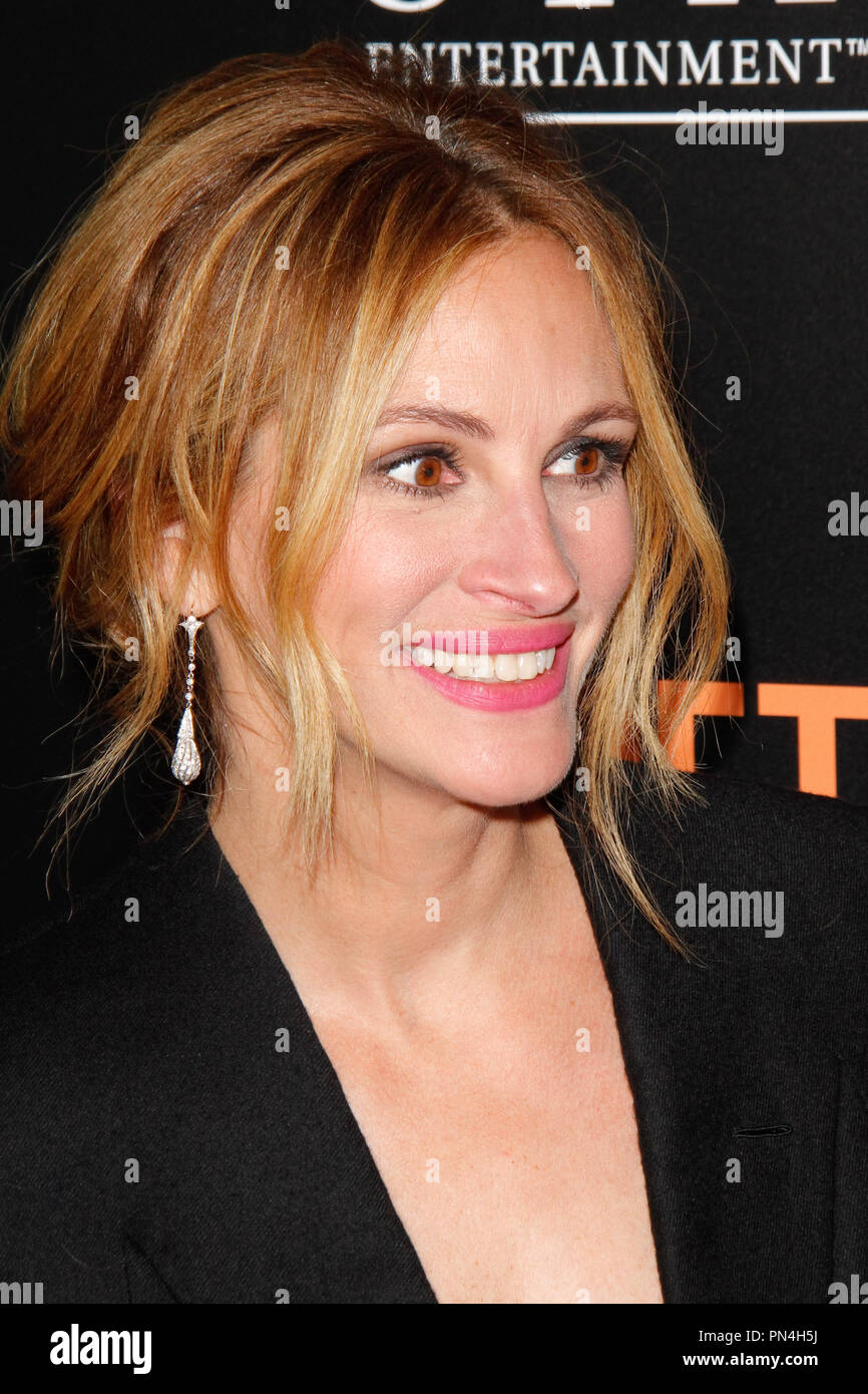 Julia Roberts at the Premiere of 'Secret In Their Eyes' held at the Hammer Museum in Westwood, CA, November 11, 2015. Photo by Joe Martinez / PictureLux - Stock Image