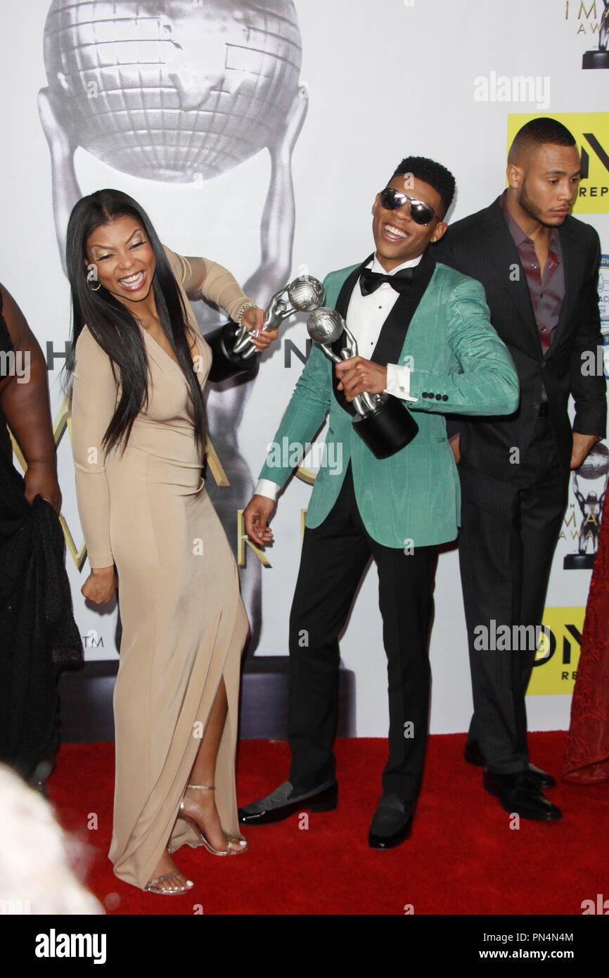 Taraji P. Henson, Bryshere Y. Gray  02/05/2016 47th NAACP Image Awards held at Pasadena Civic Auditorium in Pasadena, CA Photo by Kazuki Hirata / HNW / PictureLux - Stock Image