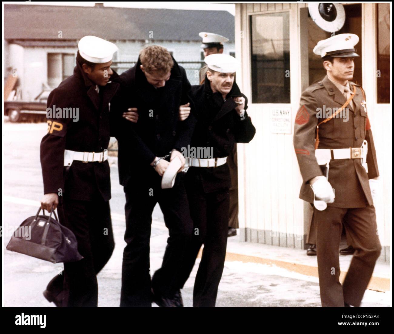Prod DB © Columbia Pictures / DR LA DERNIERE CORVEE (THE LAST DETAIL) de Hal Ashby 1973 USA Otis Young, Randy Quaid et Jack Nicholson marin, d'apres le roman de Darryl Ponicsan - Stock Image