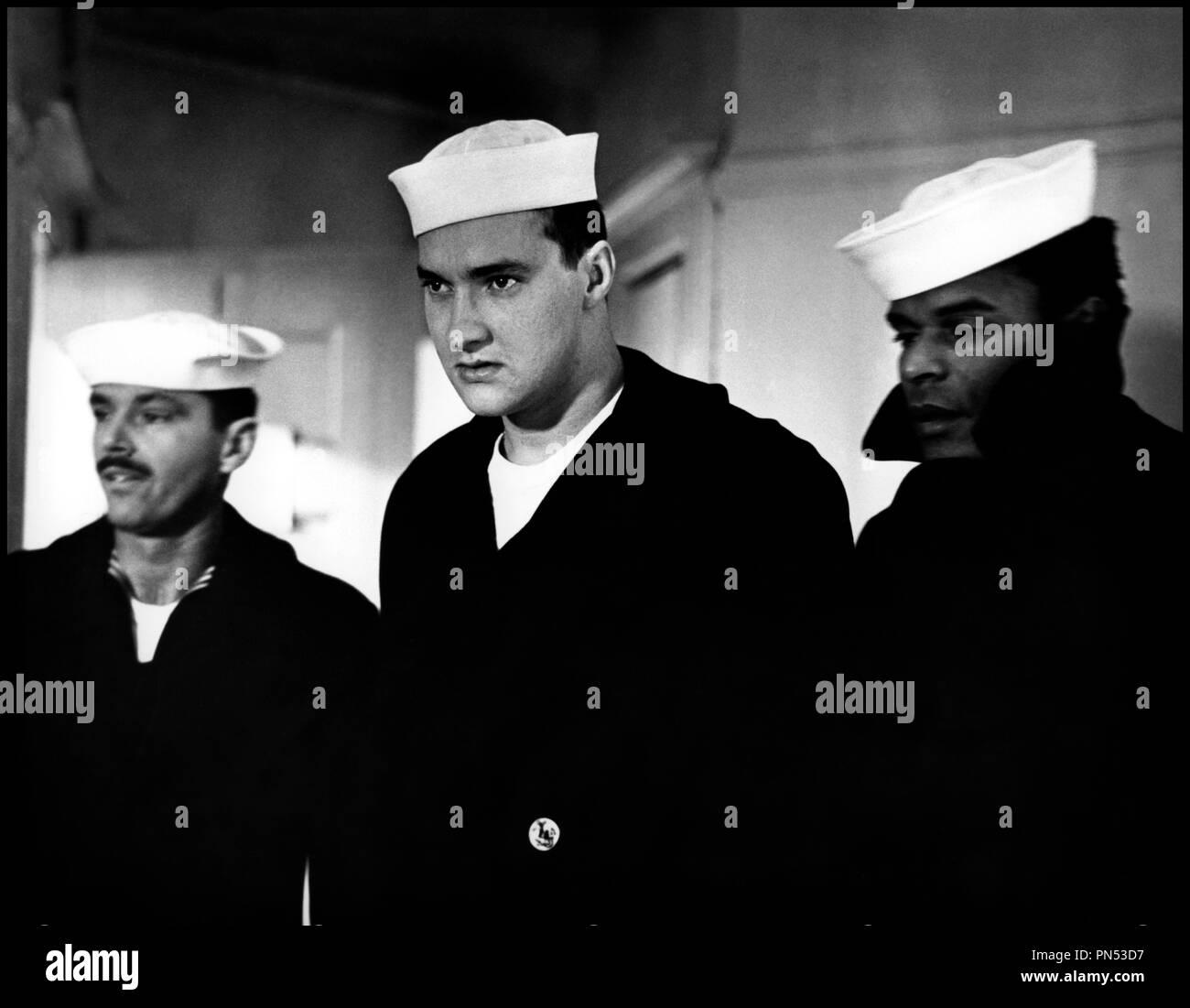 Prod DB © Columbia Pictures / DR LA DERNIERE CORVEE (THE LAST DETAIL) de Hal Ashby 1973 USA avec Jack Nicholson, Randy Quaid et Otis Young marin, calot,  d'apres le roman de Darryl Ponicsan - Stock Image