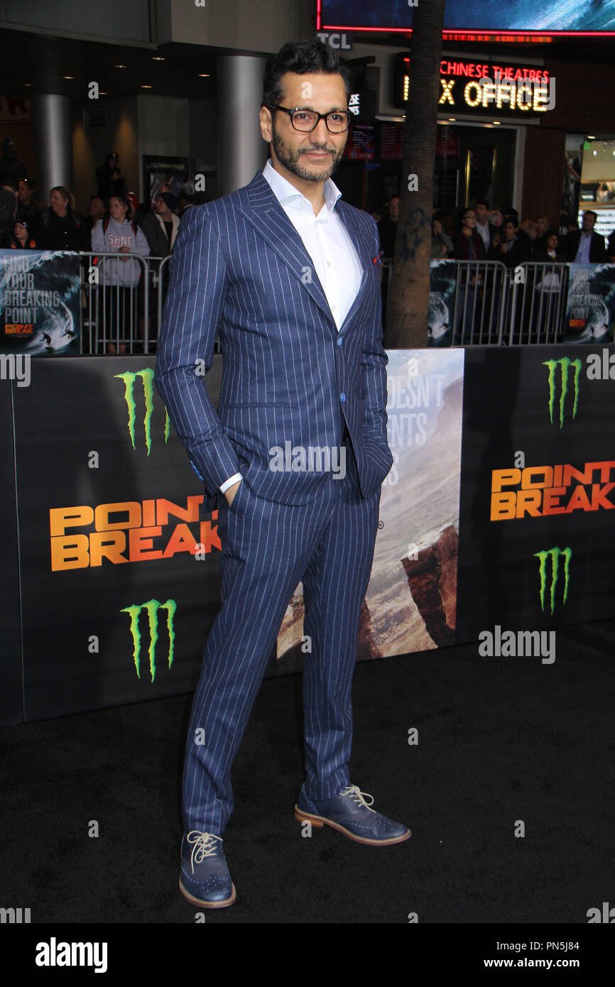 Cas Anvar  12/15/2015 'Point Break' Premiere held at the TCL Chinease Theatre in Hollywood, CA Photo by Kazuki Hirata / HNW / PictureLux - Stock Image