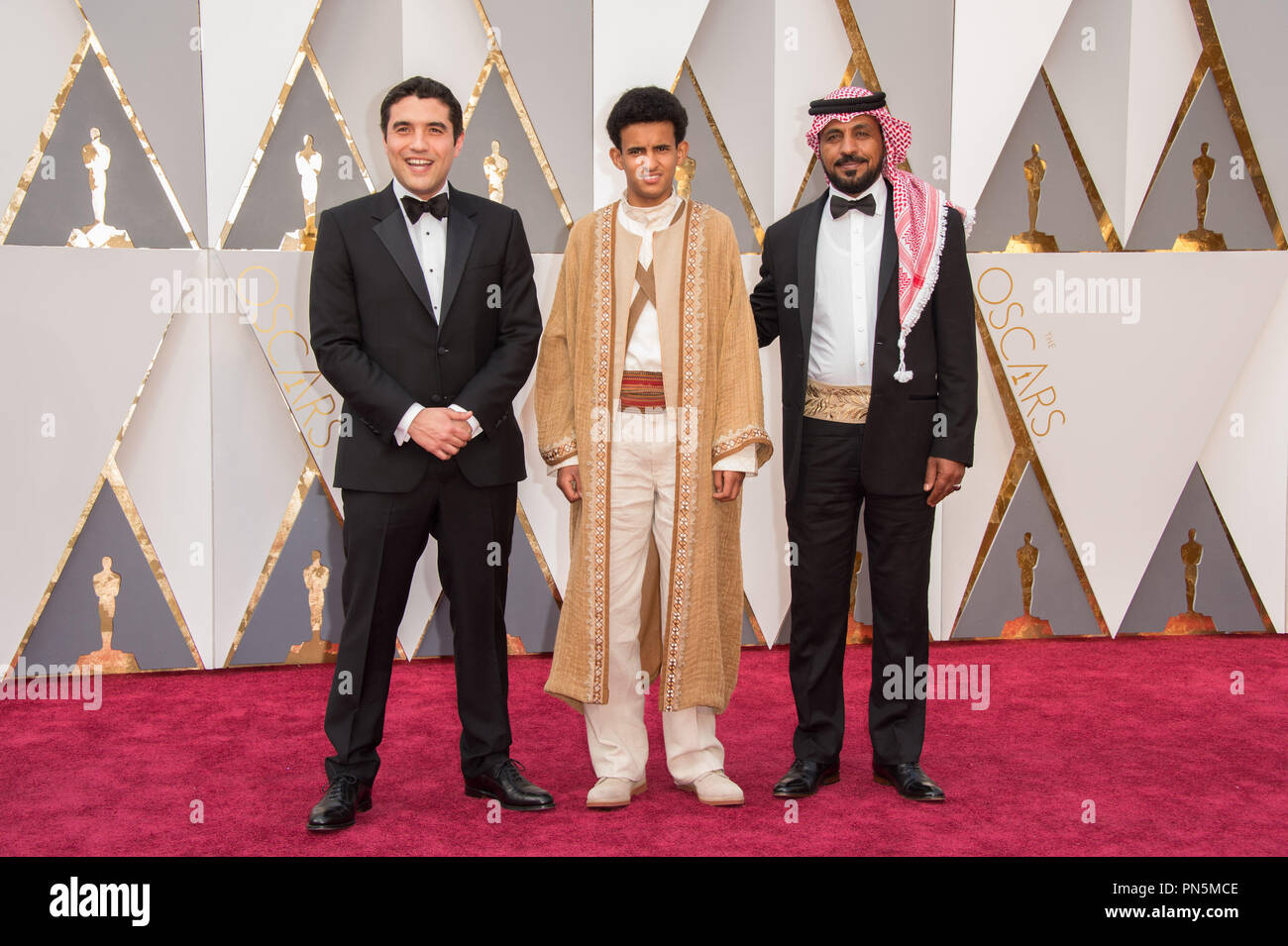 Oscar®-nominee, Naji Abu Nowar Jordan, and guests arrive at The 88th Oscars® at the Dolby® Theatre in Hollywood, CA on Sunday, February 28, 2016.  File Reference # 32854_019THA  For Editorial Use Only -  All Rights Reserved - Stock Image