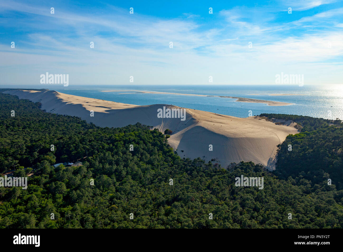 Aerial View Of The Pyla Dune In The Arcachon Bay Overview Of The