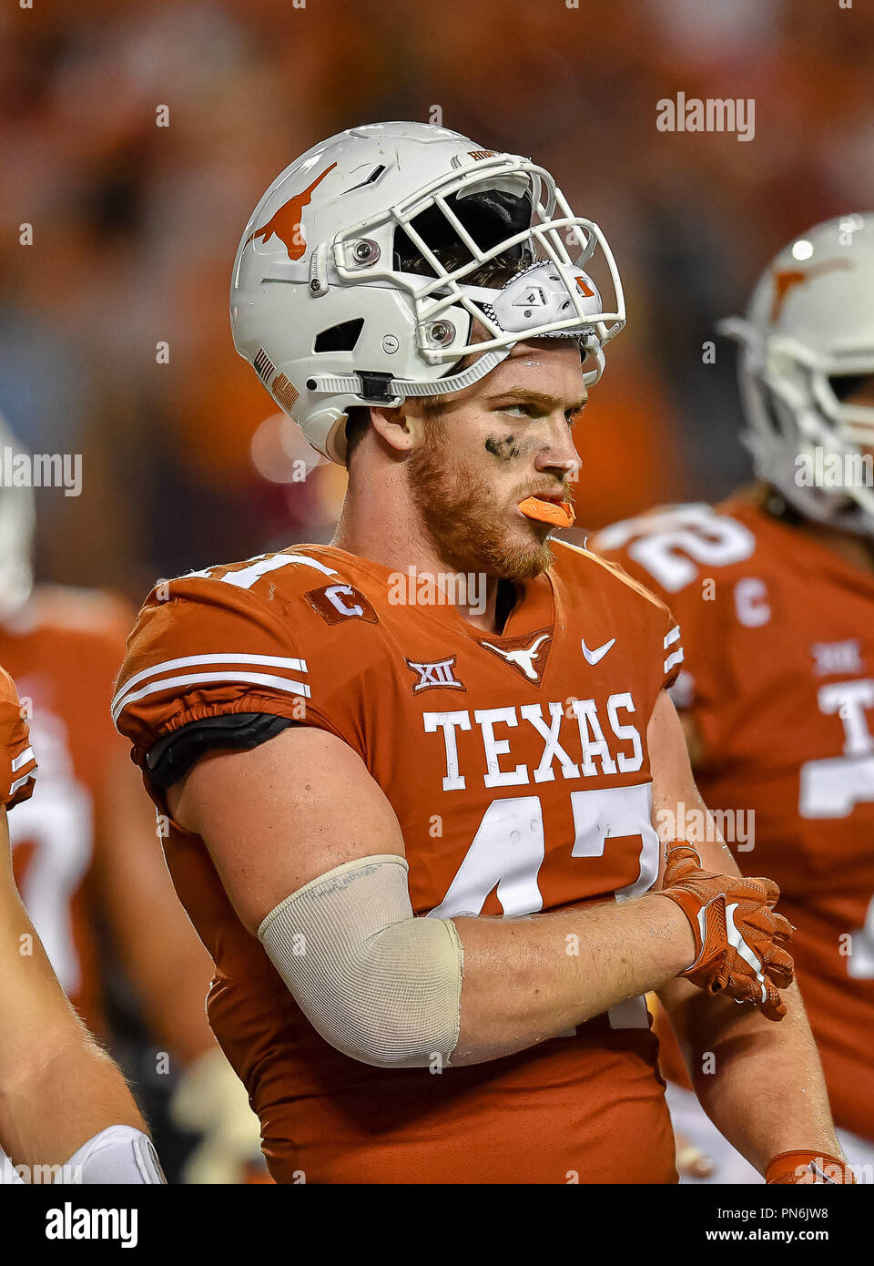 Austin Tx Usa 15th Sep 2018 Ut Tight End Andrew Beck Lining