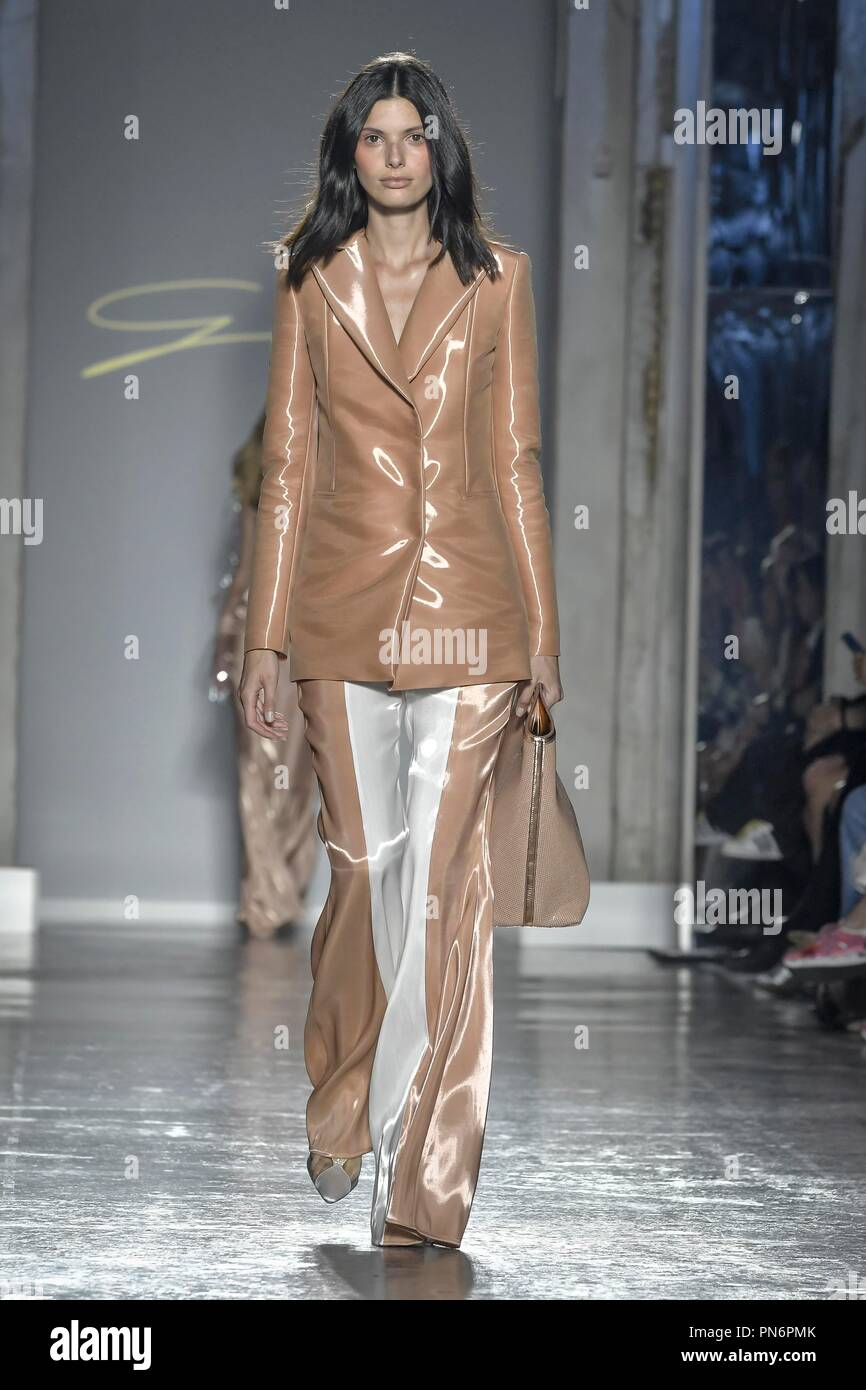 71a4563f2ef5 Milan Fashion Week Women s Fashion Spring Summer 2019. Genny fashion show.  In the photo  model Credit  Independent Photo Agency Alamy Live News