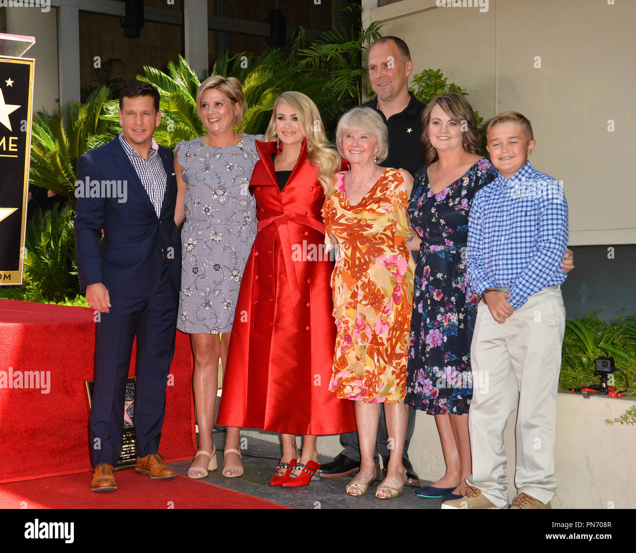 Los Angeles Usa September 20 2018 Carrie Underwood Family At