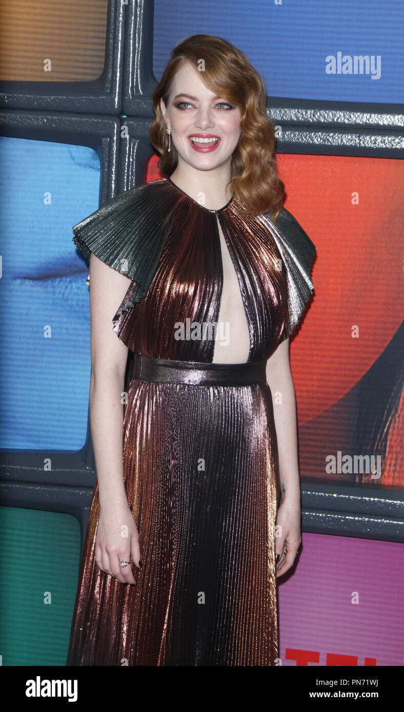 September 20, 2018 Emma Stone attend Netflix;s original series Maniac premiere at Center 415 in New York September 20, 2018:credit:RW/MediaPunch - Stock Image