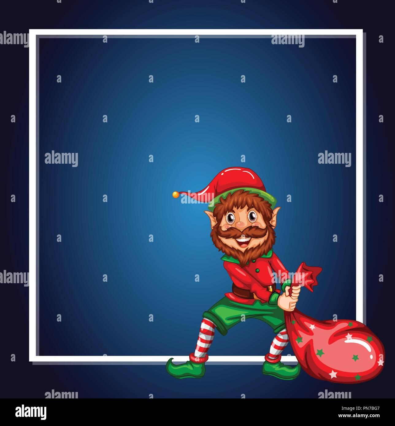 a christmas elf template illustration stock vector art