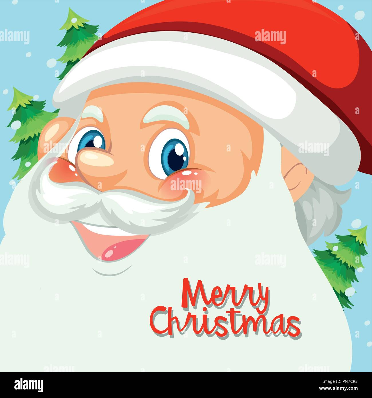 Happy Santa Face Template Illustration Stock Vector Art