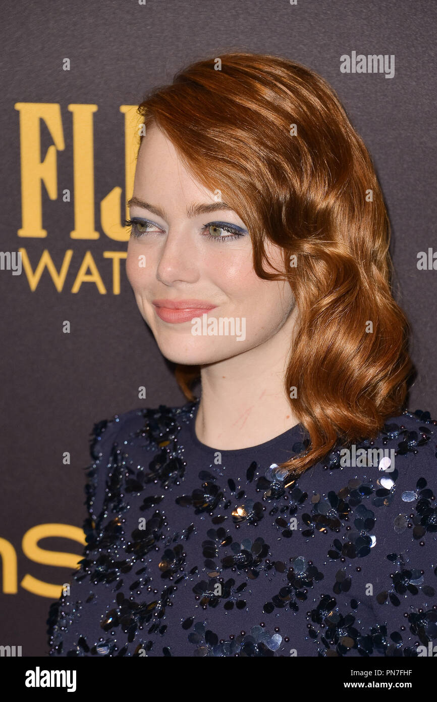 Emma Stone At The Hollywood Foreign Press Association And Instyles