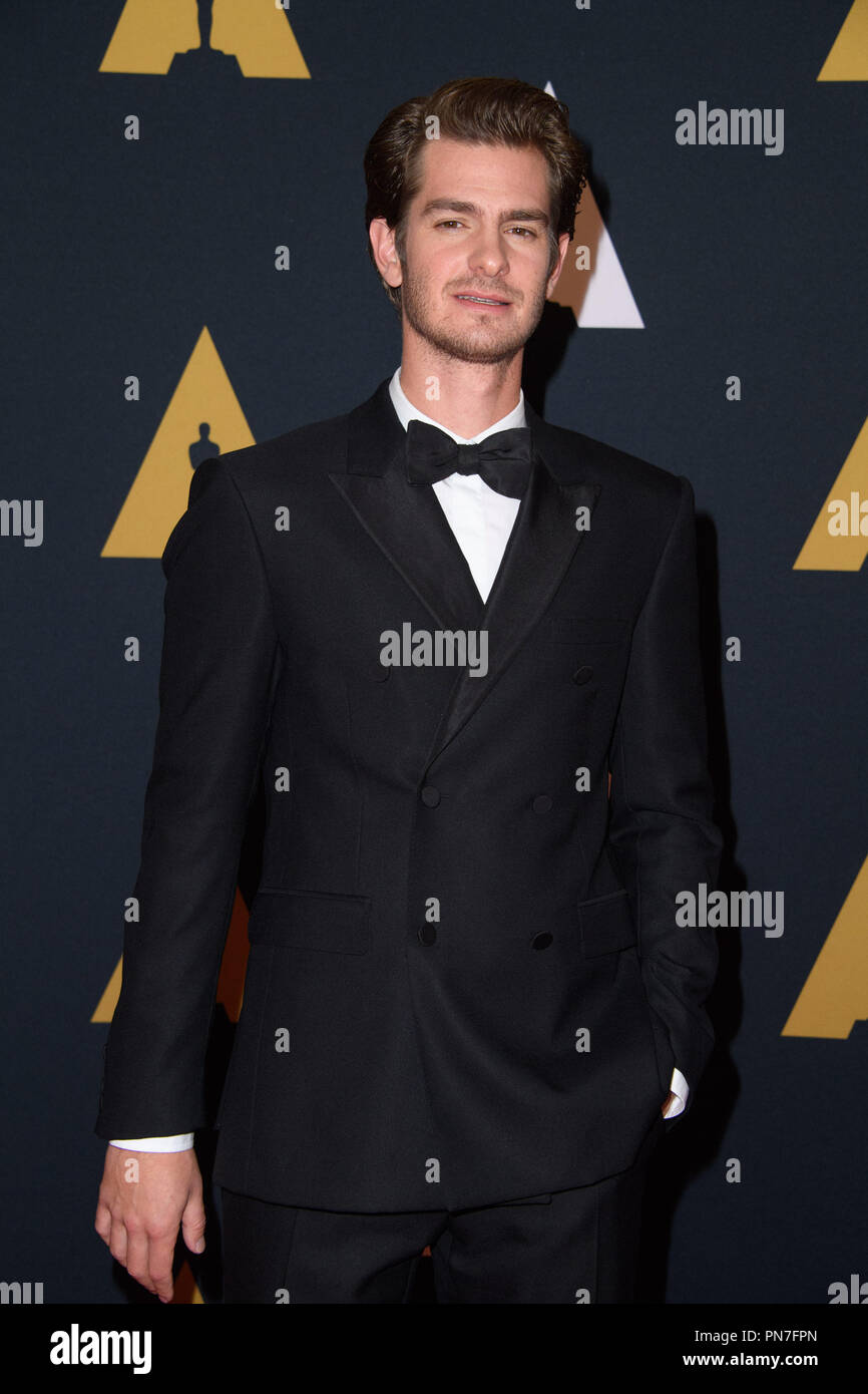 Andrew Garfield attends the Academy's 8th Annual Governors Awards in The Ray Dolby Ballroom at Hollywood & Highland Center® in Hollywood, CA, on Saturday, November 12, 2016.  File Reference # 33153_068THA  For Editorial Use Only -  All Rights Reserved - Stock Image