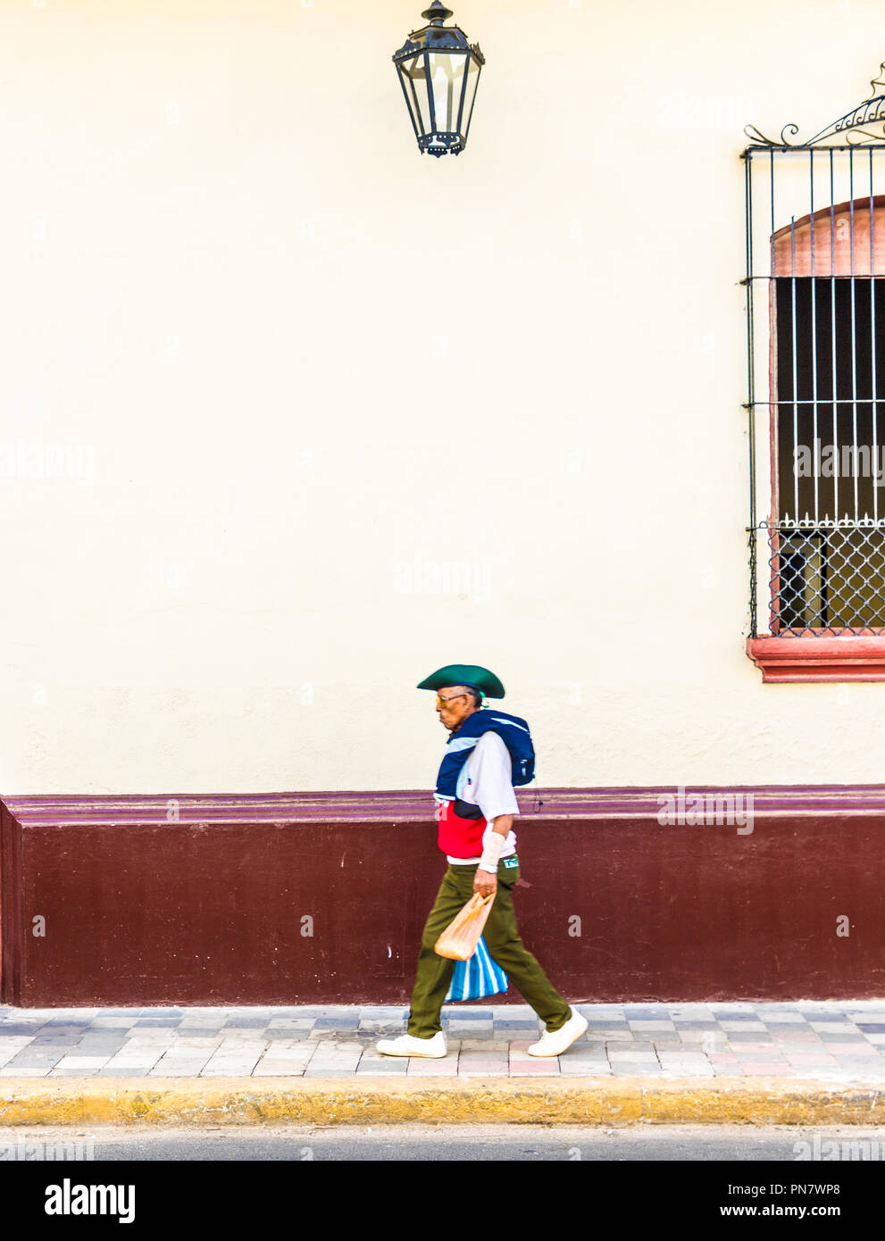 Leon Nicaragua. February 2018. A typical street scene in Leon in Nicaragua - Stock Image