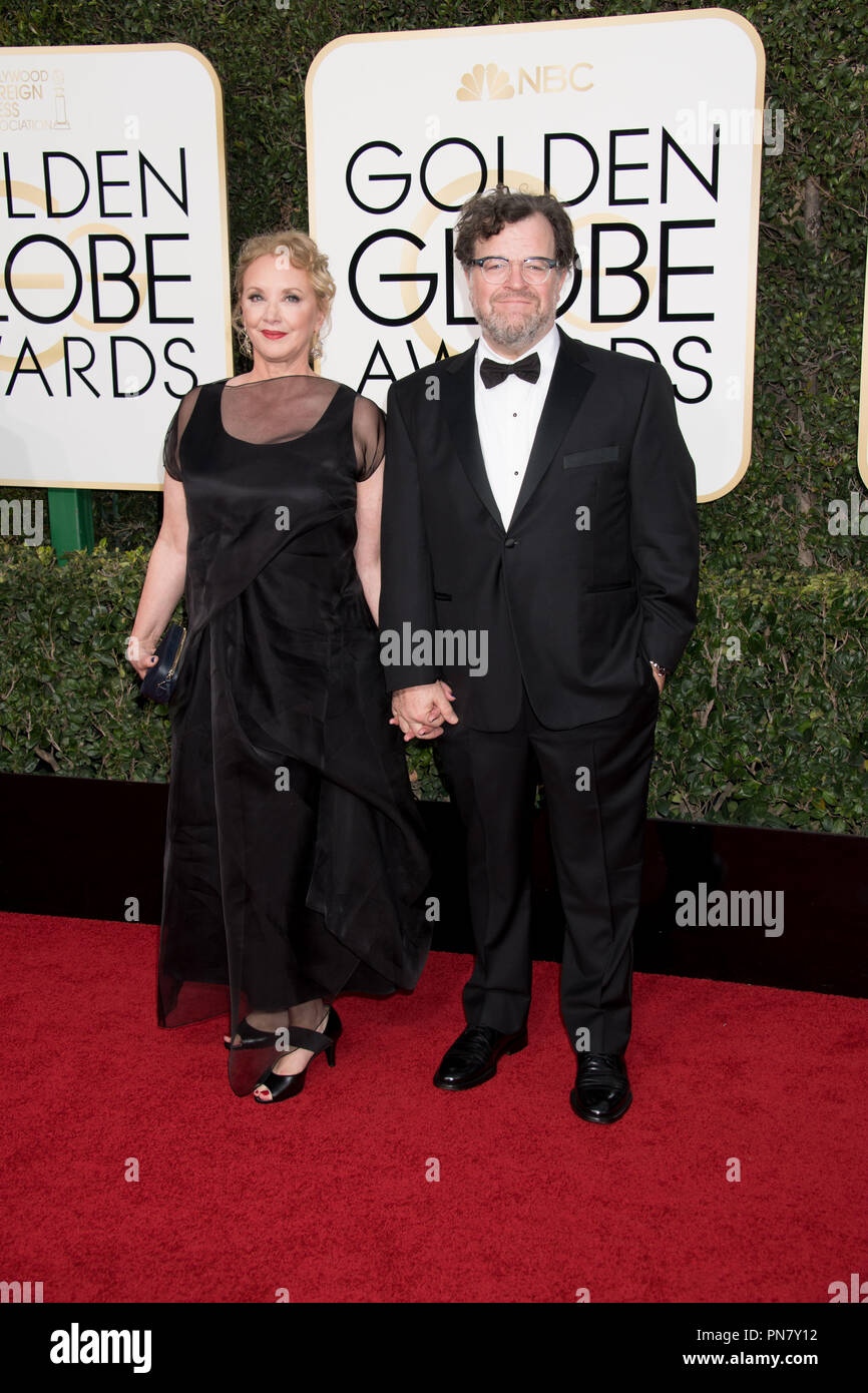 Nominated for BEST SCREENPLAY – MOTION PICTURE for 'Manchester by the Sea,' Kenneth Lonergan attends the 74th Annual Golden Globes Awards with J. Smith-Cameron at the Beverly Hilton in Beverly Hills, CA on Sunday, January 8, 2017.  File Reference # 33198_141JRC  For Editorial Use Only -  All Rights Reserved - Stock Image