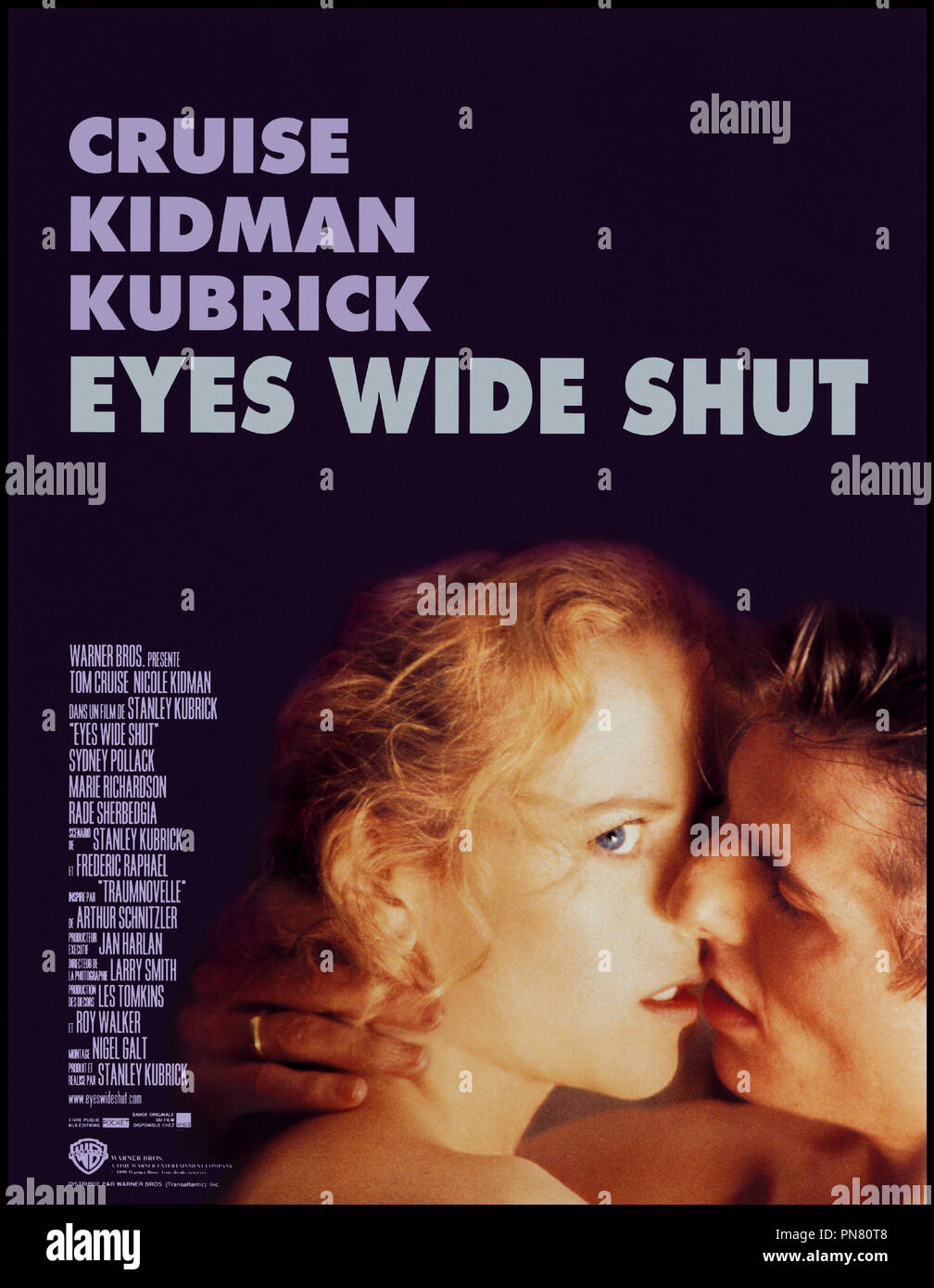 Prod DB © Warner/Hobby Films/Pole Star / DR EYES WIDE SHUT (EYES WIDE SHUT) de Stanley Kubrick 1999 USA / GB affiche d'aprs le roman de Arthur Schnitzler 'TRAUMNOVELLE' - Stock Image