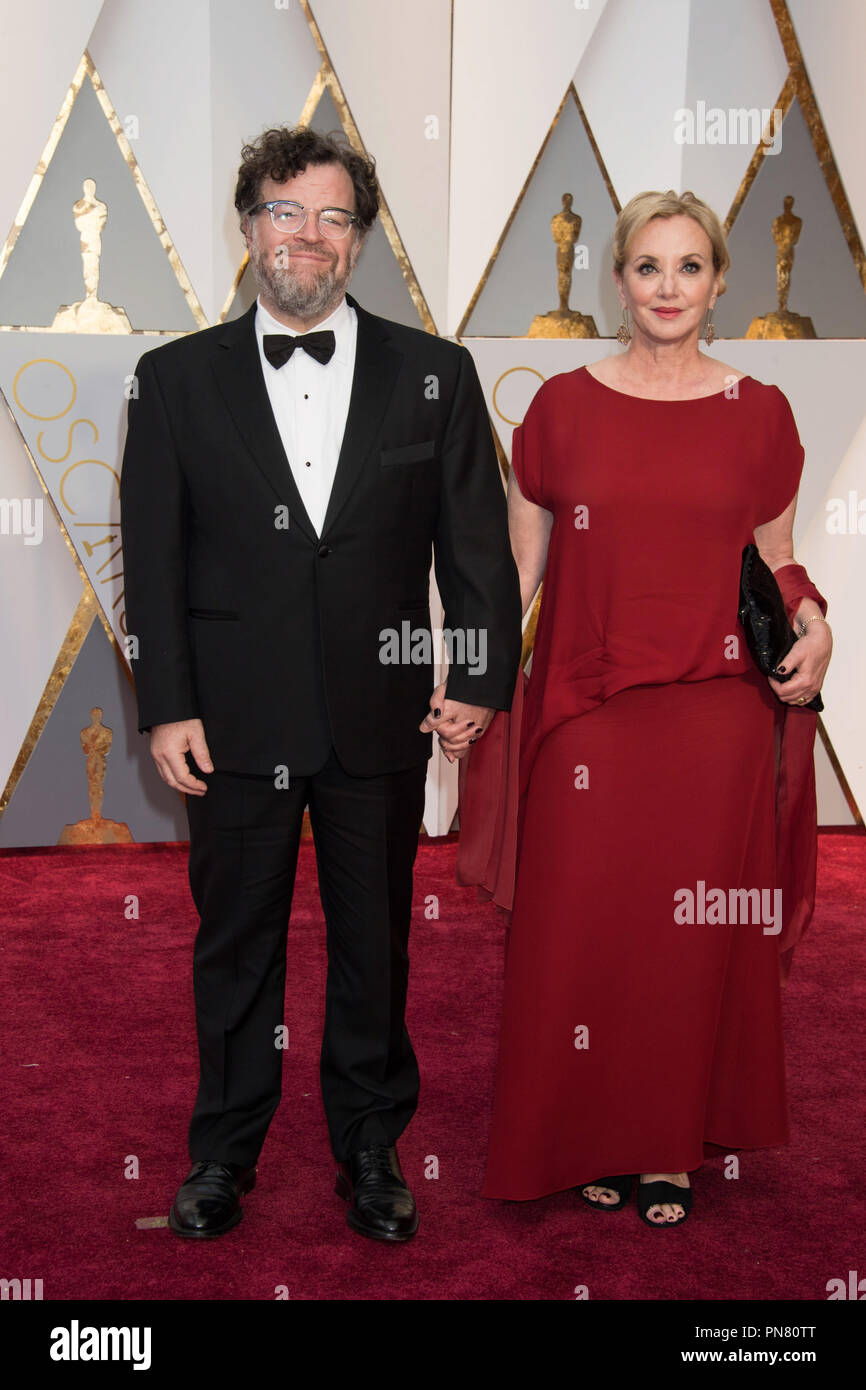 Oscar®-nominee Kenneth Lonergan and J. Smith-Cameron arrive at The 89th Oscars® at the Dolby® Theatre in Hollywood, CA on Sunday, February 26, 2017.  File Reference # 33242_238THA  For Editorial Use Only -  All Rights Reserved - Stock Image