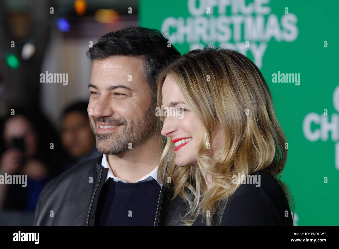 Jimmy Kimmel, Molly McNearney at the premiere of Paramount Pictures ...