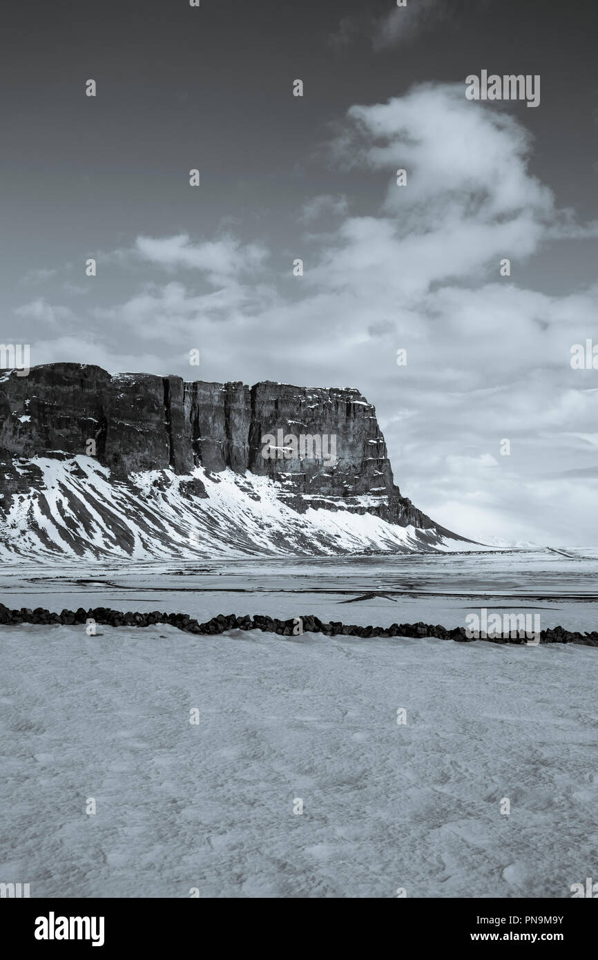 Lomagnupur subglacial mound in South Iceland - Stock Image